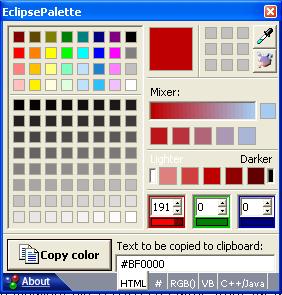 Eclipse Palette für Windows