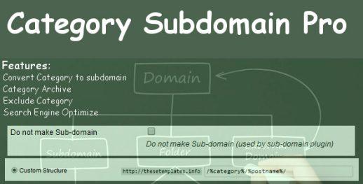 Category Subdomain Pro
