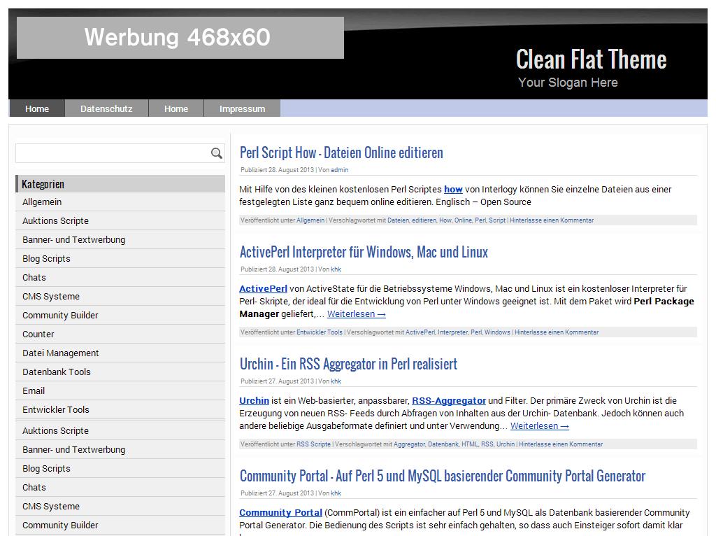 CleanFlatTheme