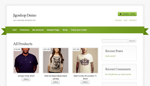 Jigoshop e-Commerce Plugin