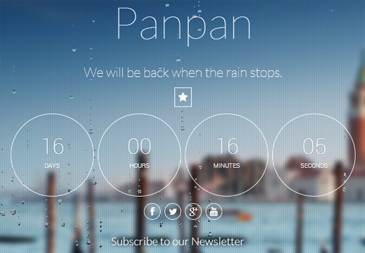 Panpan – Responsive WordPress Coming Soon Plugin