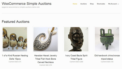 WooCommerce Simple Auctions for WordPress