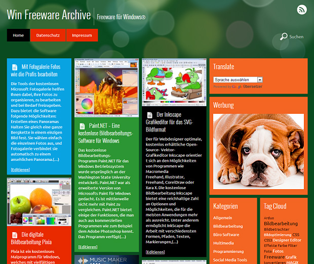 Metro WordPress Theme mit Kacheln und Theme Builder