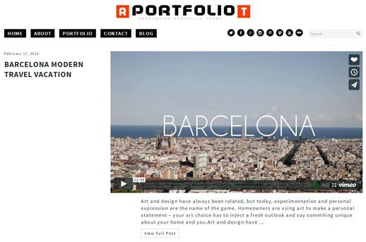 Responsive Portfolio WP Theme – Free 2014