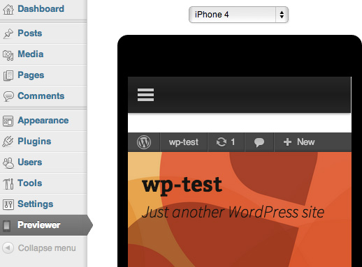 Responsive Previewer für WordPress