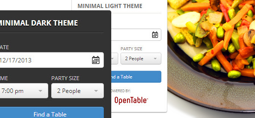 WordPress Restaurant  Reservierung mit Open Table Widget Pro