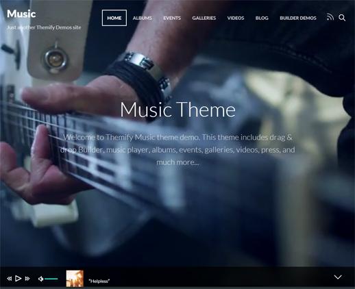Das Music WordPress Theme von Themify
