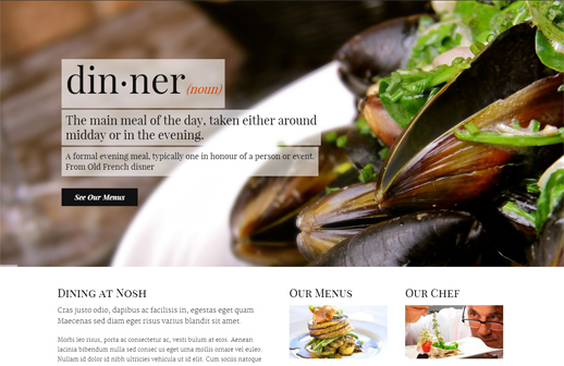 Nosh – Restaurant und Bar WordPress Theme