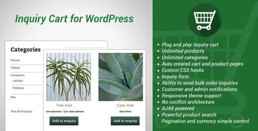 Simple Inquiry Cart für WordPress