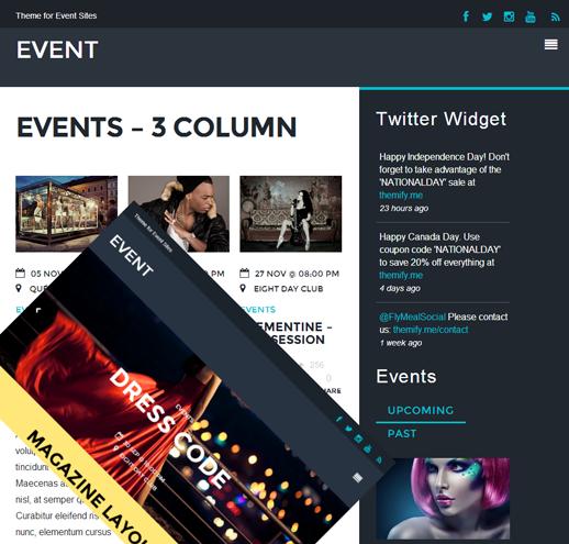 Event: Ein ultramodernes WordPress Theme von Themify