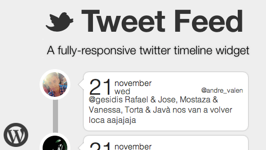 Tweet Feed WordPress Twitter Timeline Widget