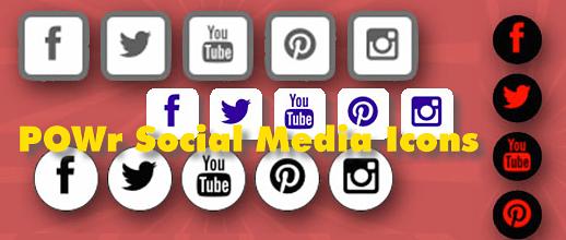 POWr Social Media Icons für WordPress
