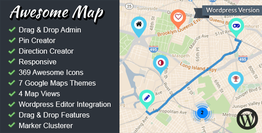 Awesome Map WP – Fully Customizable Markers Map