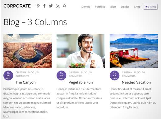 Corporate WordPress Theme von Themify