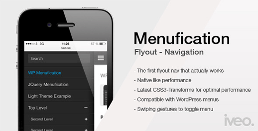 WordPress Menufication: Responsive Fly-Out Menu Plugin