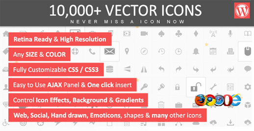 10.000+ Vector Icons für WordPress