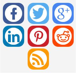 Beispiel der Social Media Buttons