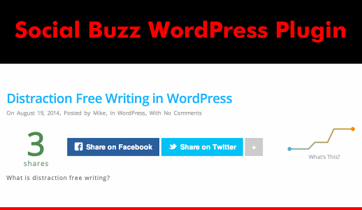 Social Buzz WordPress Plugin with Social Share Graphs