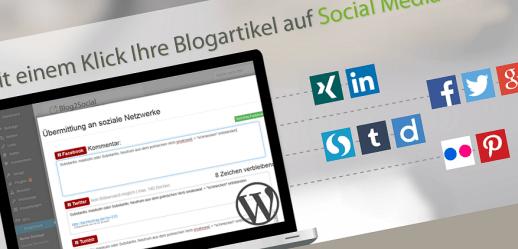 Dank Blog2Social mit einem Klick Blogartikel auf Social Media Profilen teilen
