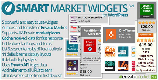 Smart Market Affiliate Widgets für Envato