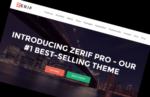 Zerif WordPress Theme Head