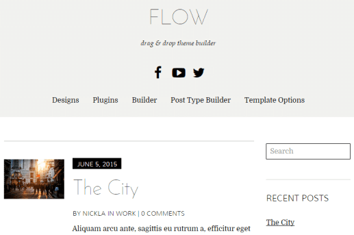 Flow: Ein kostenloser Drag & Drop WordPress Theme Builder