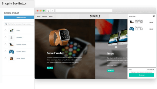 Mit Simple WordPress und Shopify verbinden