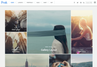 Peak – Ein modernes, Grid basiertes WordPress Theme